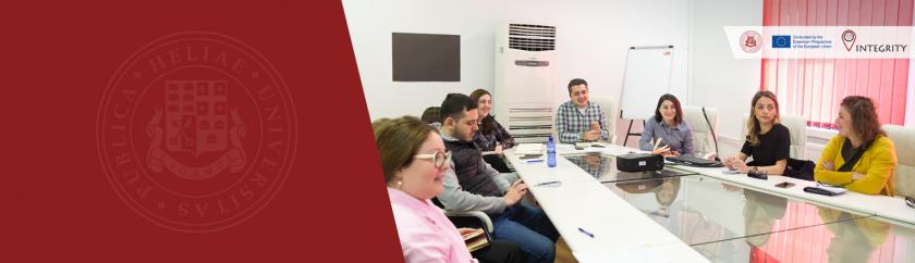 """პროექტის """"აკადემიური კეთილსინდისიერება ხარისხიანი სწავლისა და სწავლებისთვის ქართულ უმაღლეს საგანმანათლებლო დაწესებულებებში (INTEGRITY)"""" მეორე სამუშაო შეხვედრა."""