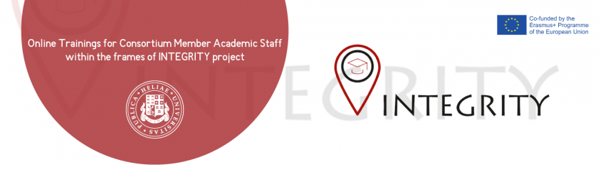 ONLINE TRAININGS FOR CONSORTIUM MEMBER ACADEMIC STAFF WITHIN THE FRAMES OF INTEGRITY PROJECT