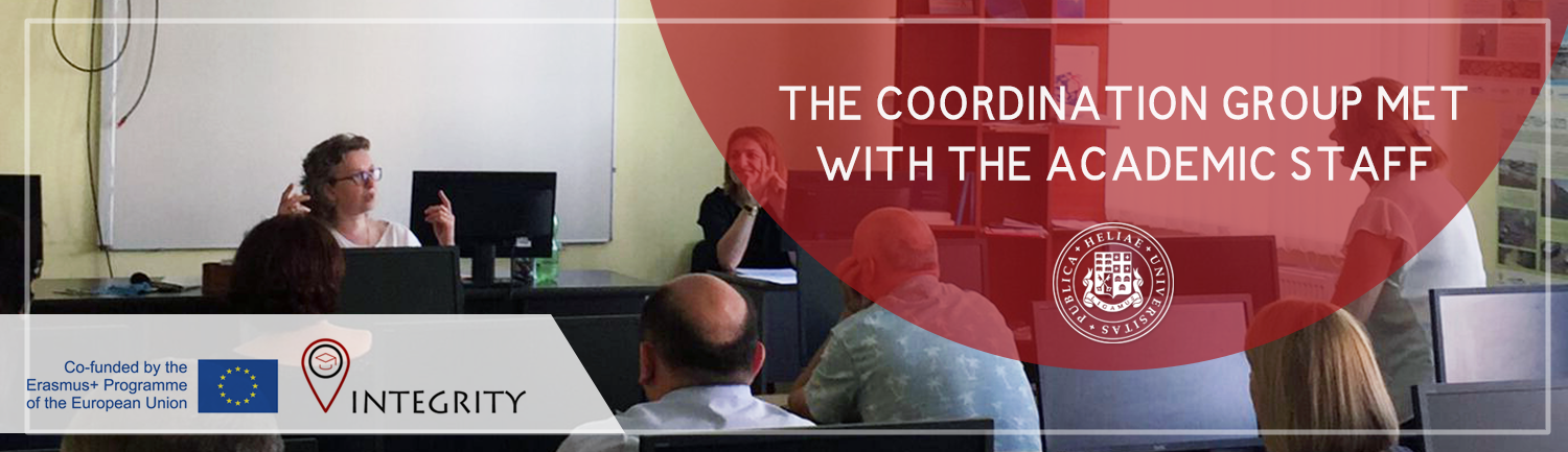 The coordination group met with the academic staff