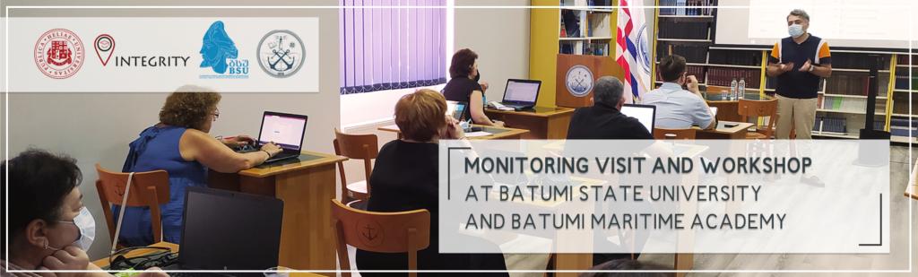 Monitoring visit and workshop at Batumi State University and Batumi Maritime Academy
